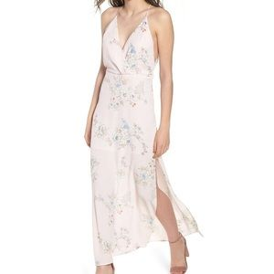 NWT Lush Soft Pink Floral Maxi Dress Size Small